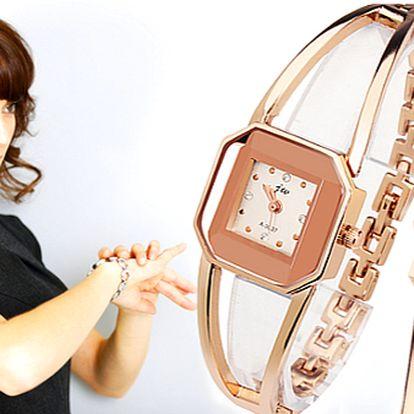 Dámské náramkové hodinky Gold Crystal Rose s doručením zdarma