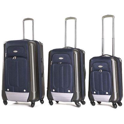Set tří modrých kufrů s kolečky Ravizzoni