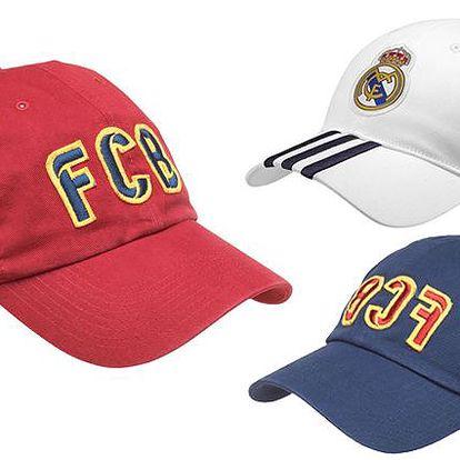 Pánská kšiltovka Adidas Real Madrid nebo Nike FC Barcelona