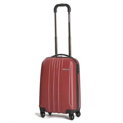 Menší pevný červený kufr Ravizzoni