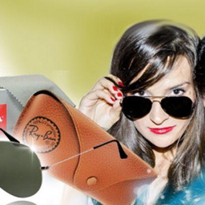 Luxusní sluneční brýle značky Ray Ban AVIATOR včetně pouzdra a hadříku za skvělých 1699 Kč! Pořiďte si tento stylový UNISEX doplněk se slevou 46%! Poštovné ZDARMA!