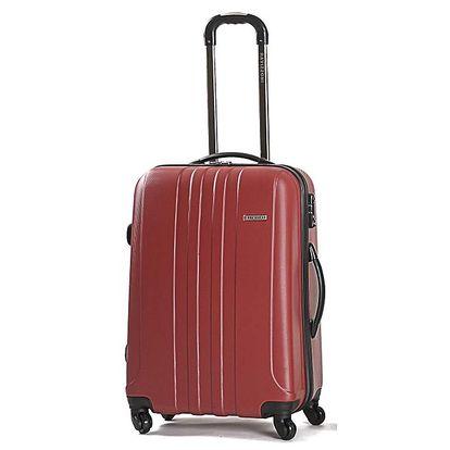 Větší pevný červený kufr Ravizzoni