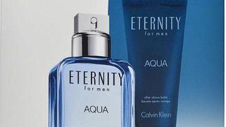 Calvin Klein Eternity Aqua EDT dárková sada M - Edt 100ml + 100ml balsám po holení