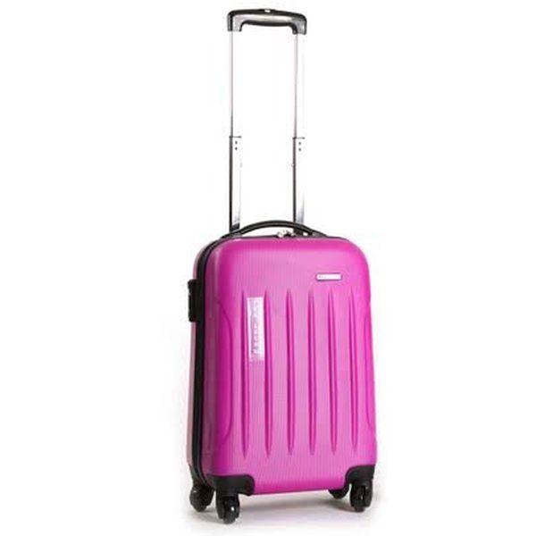 Menší pevný růžový kufr Ravizzoni