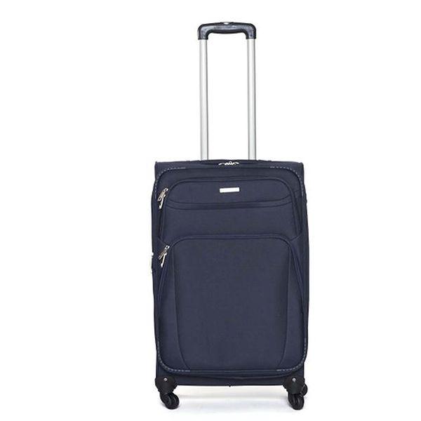 Středně velký modrý cestovní kufr Ravizzoni