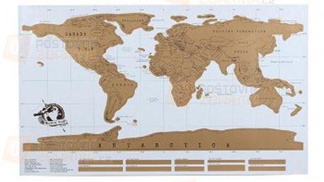 Mapa na zeď se seškrabávacím povrchem a poštovné ZDARMA! - 13807558