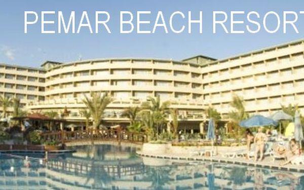 Turecko last minute, letecky na 8 dní s All Inclusive, Luxusní 5* Pemar Beach Resort za 11 990 Kč! Odlet 09.05. z Prahy. Stačí zaplatit 90 Kč za prebooking.
