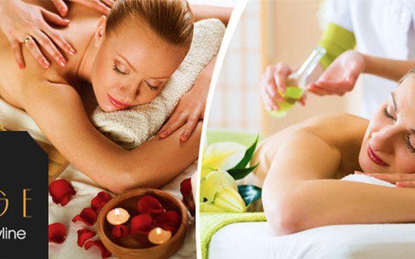 Rekondiční olejová masáž zad a nohou a předehřátí klienta infračerveným zářičem