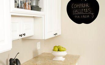 Samolepka Apple Blackboard, 58x60 cm