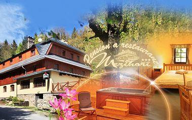 Jarní relax pro tělo i duši v Krušných horách! Tři až pět dní v krásném Pensionu Mezihoří*** včetně SNÍDANÍ, privátního WELLNESS a láhve SEKTU, již od 1949 Kč PRO DVA!