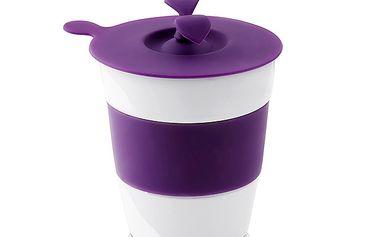 Silikonové víčko na hrneček - fialové