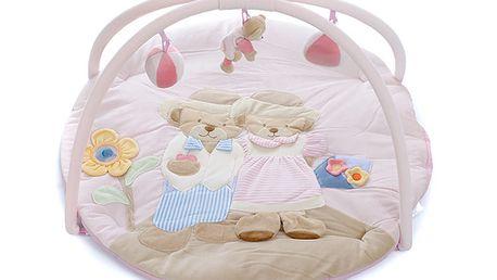 Hrací deka Babypoint růžová
