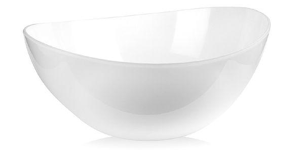 Bílá mísa na salát Livio, 25 cm