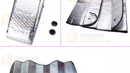 Stínící clona do auta - stříbrná barva a poštovné ZDARMA! - 13909965