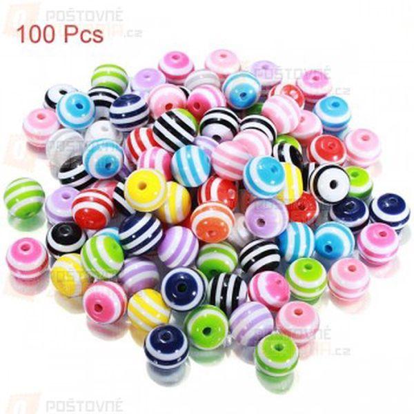Různobarevné korálky - 100 kusů a poštovné ZDARMA! - 13709927