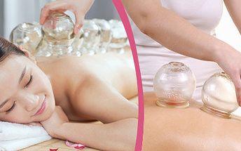 Baňkování pro relax, odbourání bolesti anebo pro hubnutí