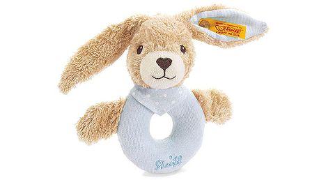 Plyšový králíček do ruky modrý