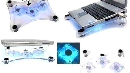 Chcete chránit svůj notebook? Chladící podložka s větráčky s modrým podsvícením nyní za skvělou cenu 139 Kč!!