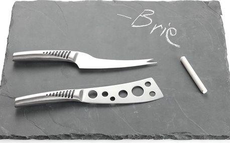 Břidlicové prkénko s noži na sýr