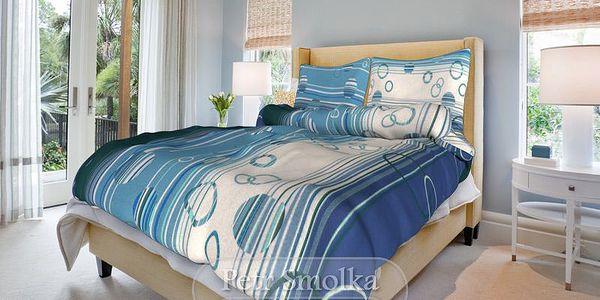 Smolka bavlna povlečení Eva modrá 200x220 70x90