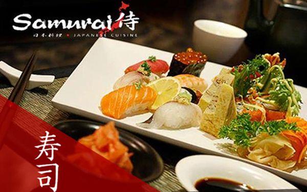 Bohaté sushi menu PRO DVA za 999 Kč! Vyhlášená restaurace Samurai!