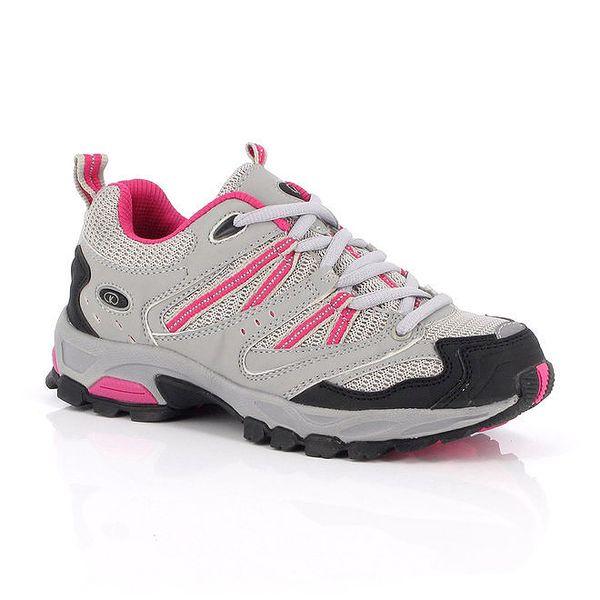Šedé nízké outdoorové boty Kimberfeel s barevnými detaily