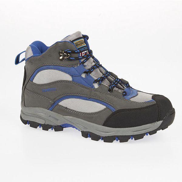 Unisex modro-šedé trekové kotníčkové boty Kimberfeel
