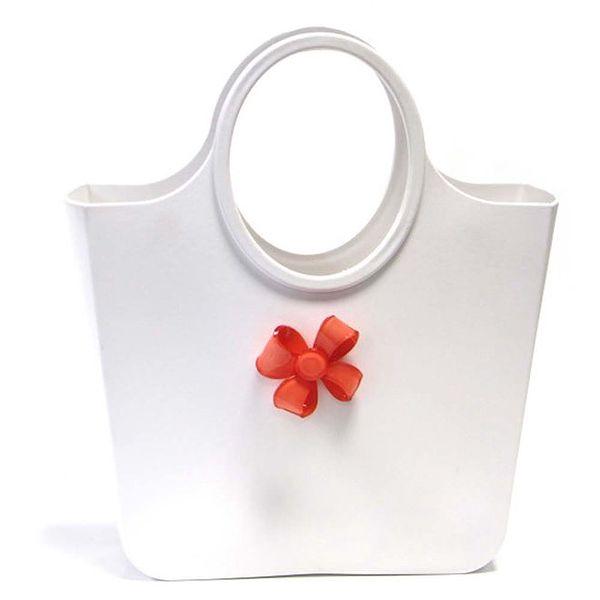 Dámská bílá taška s mašlí Favolla