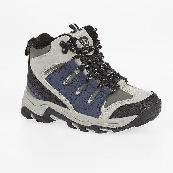 02efc941539 Dámské kotníkové trekové boty s modrými detaily Kimberfeel