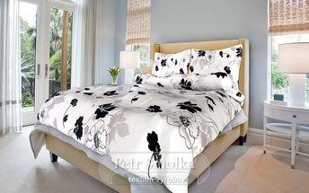Smolka bavlna povlečení Tapeta Černobílá 200x220 70x90