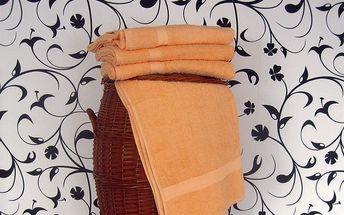 Smolka ručník klasik světle oranžový