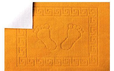 Koupelnová předložka Stopa- Oranžová