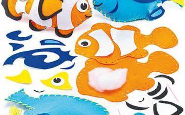 Polštářek tropické rybky – šitíčko
