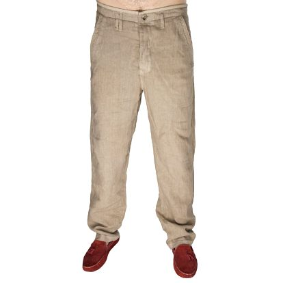 Pánské béžové lněné kalhoty Me Da Igual