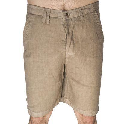 Pánské béžové šortky s knoflíkovým zapínáním Me Da Igual