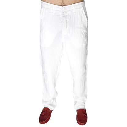 Pánské bílé lněné kalhoty Me Da Igual