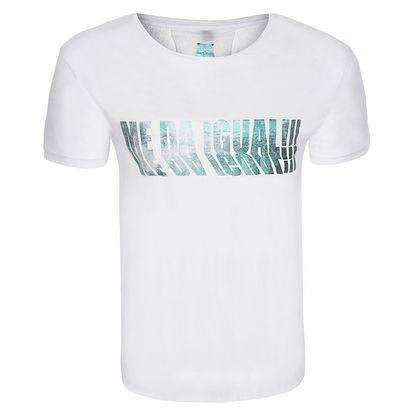 Pánské bílé tričko s barevným potiskem Me Da Igual