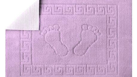 Koupelnová předložka Stopa- Světle fialová