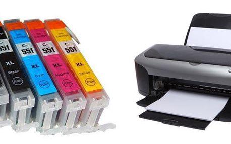 5 ks kompatibilních náplní pro tiskárny Canon PGI-550 + CLI-551CMYK XL