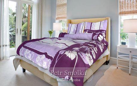 Smolka bavlna povlečení Sofia fialová 200x220 70x90