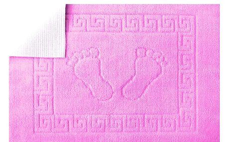 Koupelnová předložka Stopa- Jasně růžová