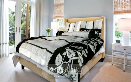 Smolka bavlna povlečení Sofia černá 200x220 70x90