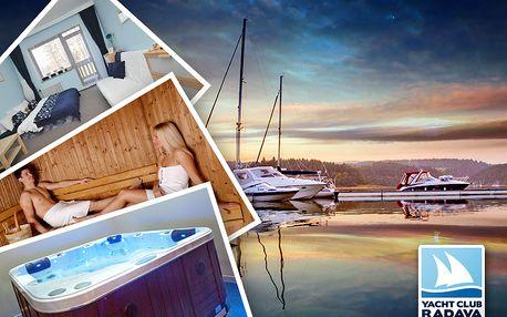 Yacht Club u Orlíku – pronájem apartmánu s neomezeným vstupem do wellness