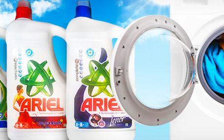 Tekutý prací prášek Ariel: výběr ze 3 druhů, 4,9 litru! Perte své prádlo kvalitně!