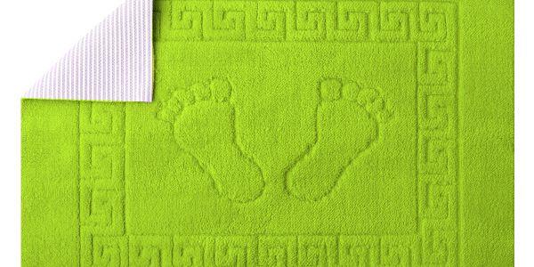 Koupelnová předložka Stopa-Zelená