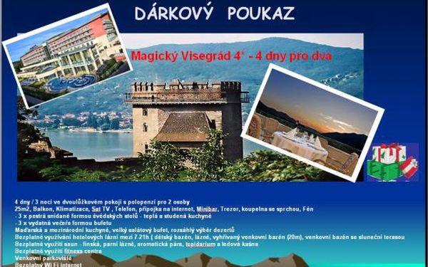 Magický Visegrád - prvotřídní wellness - 4 dny 4* luxusu pro 2 s polopenzí a benefity