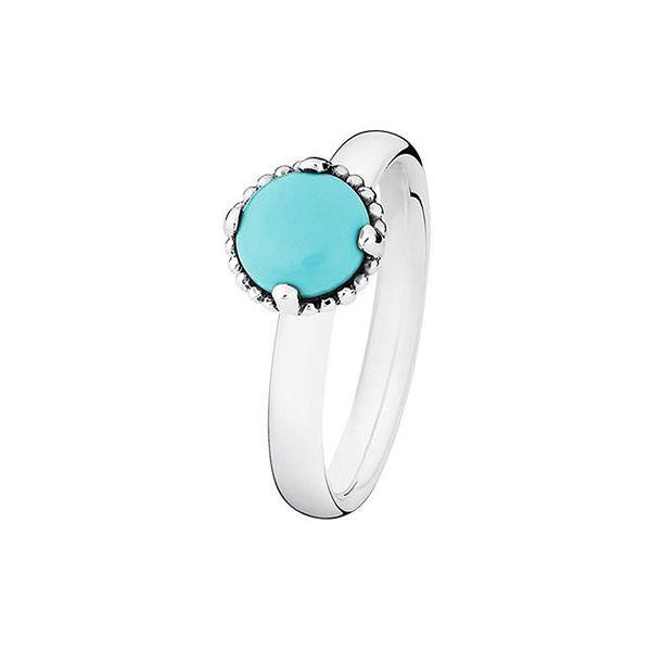 Dámský prstýnek s tyrkysovým kamínkem Spinning
