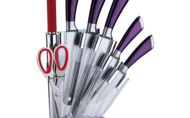 Sada nožů v akrylátovém stojánku 8 ks fialová RENBERG RB-2505fial
