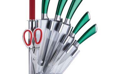Sada nožů v akrylátovém stojánku 8 ks zelená RENBERG RB-2505zele