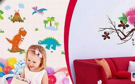 Designové velkoformátové samolepky dle vašeho výběru. Vhodné nejen na zeď, ale i na dřevo, zrcadla a další hladké plochy.Na výběr přes 200 motivů.